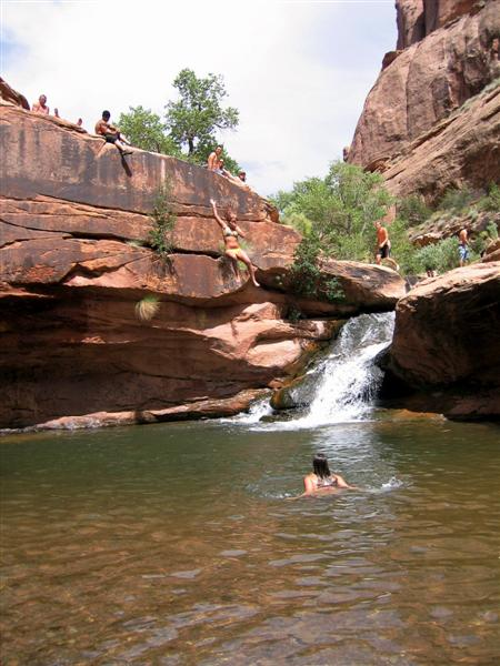 Tr Moab Mill Creek Swimming Hole