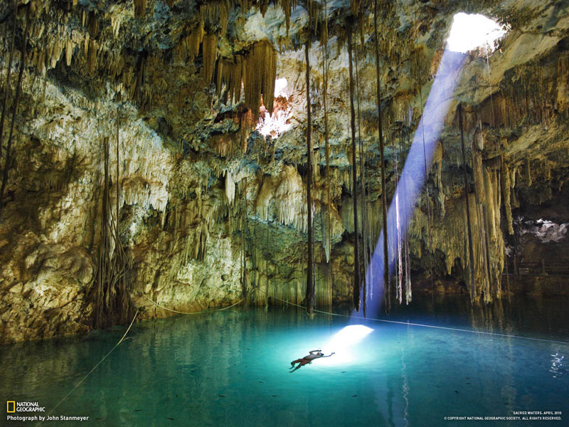 Image result for Yucatan Cave Lake